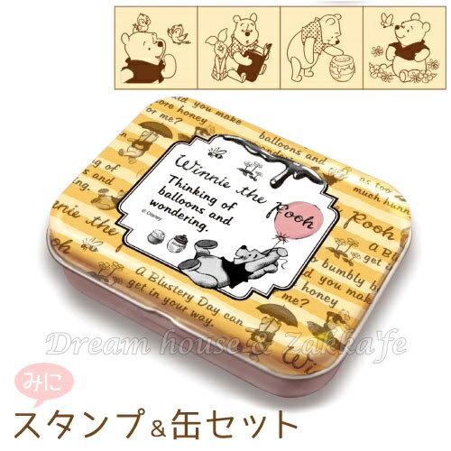 日本進口 DISNEY 迪士尼 小熊維尼 印章組 附收納鐵盒 《 日本製 》★ Zakka\
