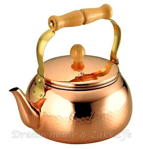 日本ASAHI 食楽工房 手工 純銅 鎚目 茶壺 CNE-307《 2.4L 》★ 日本製 ★ Zakka'fe ★ 2