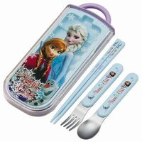 Disney 冰雪奇緣環保餐具組 《筷子/湯匙/叉子一組》★ 日本製 ★