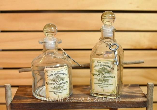 Zakka鄉村風復古鑰匙玻璃瓶《2款任選》★可當花瓶喔★可愛漂亮★ 0