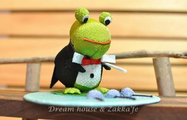 日本手工藝 青蛙指揮家 《純手工製作和風小物》★日本製★ - 限時優惠好康折扣
