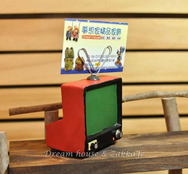 日本Zakka鄉村風仿舊電視造型便條夾 / 名片夾 / 黑板《2用喔》★可夾照片喔★ - 限時優惠好康折扣