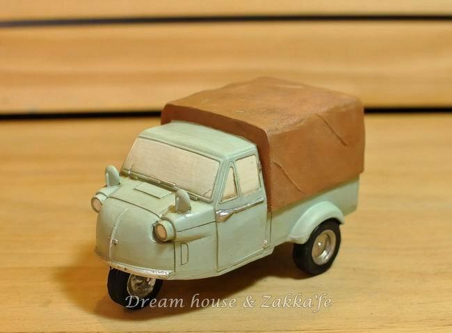 日本仿舊汽車造型撲滿 / 存錢筒《日本昭和時代3輪汽車》★很特別喔★ - 限時優惠好康折扣