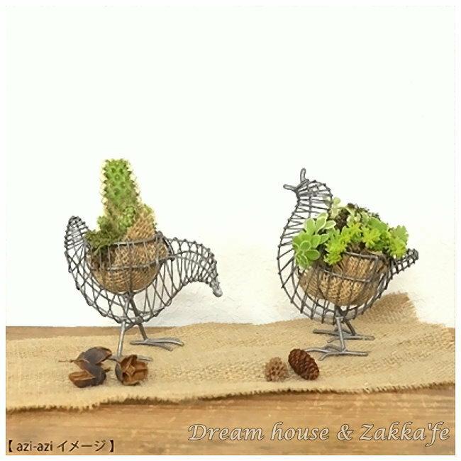 鄉村風日系Zakka 金屬公雞雞蛋架 ★ 也適合種空氣鳳梨/多肉植物喔 ★《日本原裝進口》