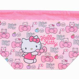 日本 Hello Kitty 束口袋/小物袋/便當袋 《 當化妝包/雜物包/裝衛生棉/寶貝外出奶嘴零食 都適合喔 》 ★ 日本製 ★