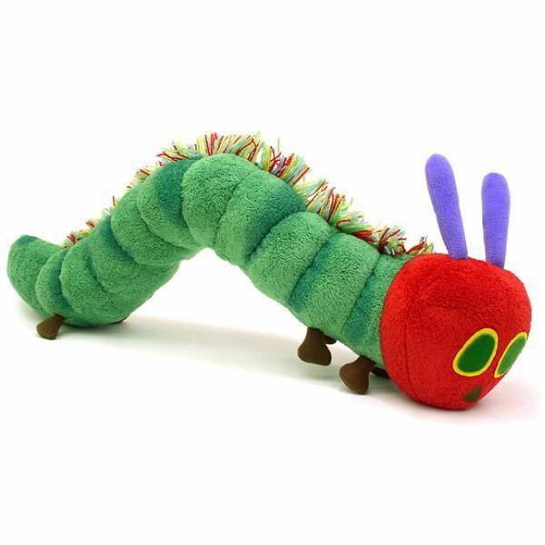 世界知名玩具書 好餓的毛毛蟲 The Very Hungry Caterpillar 毛毛蟲絨毛娃娃 / 玩偶 - 限時優惠好康折扣