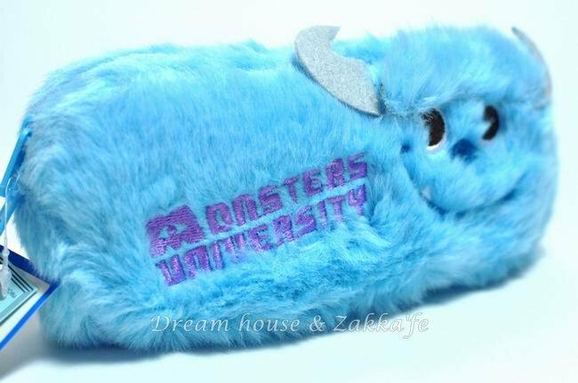 日本正版 Disney 迪士尼 毛怪 Monsters 萬用收納包 / 化妝包 / 筆套 《 藍色長毛 》★ 超可愛 ★ - 限時優惠好康折扣