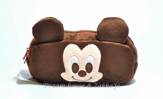 日本正版 Disney 迪士尼 米奇 Mickey 萬用收納包 / 化妝包 / 筆套 《 咖啡色 》★ 超可愛 ★ - 限時優惠好康折扣