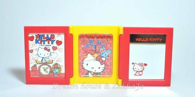 日本三麗鷗 Hello Kitty 多功能摺疊鏡子/鬧鐘/相框《 日本限定 》★ 超可愛喔 ★