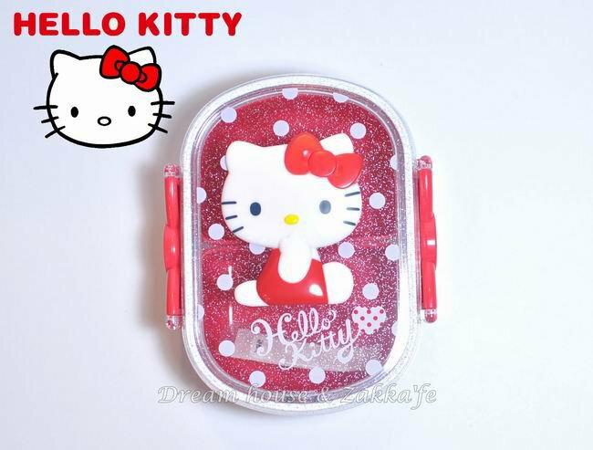 日本三麗鷗 Hello Kitty蝴蝶結單層便當盒 《內附隔層》★ 日本製 ★ - 限時優惠好康折扣