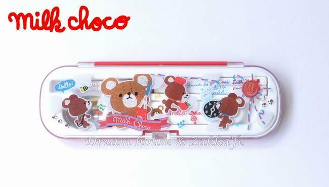日本正版 milk choco 小熊鐵塔旅行 兒童 環保餐具組 《 筷子  / 湯匙 組 》 ★ 日本製 ★ - 限時優惠好康折扣