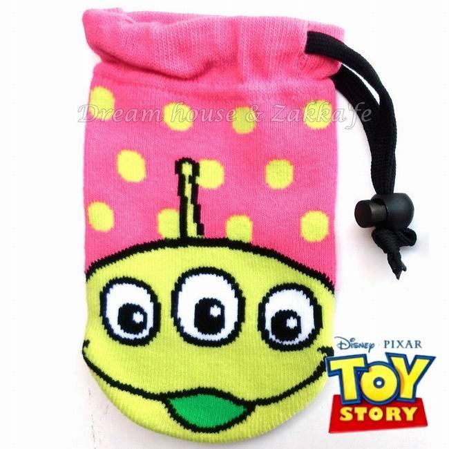 日本正版 Disney 迪士尼 束口袋/小物袋/手機袋 《 玩具總動員 三眼怪 》★ 收納私密小物/暖暖包/保冷袋 多用途喔 ★