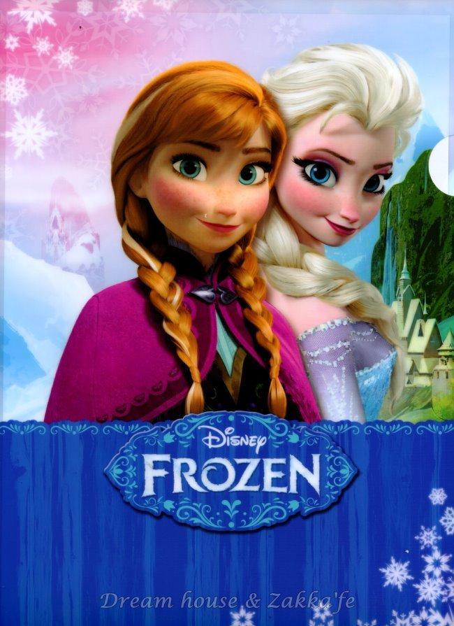 日本正版 Disney 迪士尼 冰雪奇緣 安娜/艾莎 Anna Elsa L型 資料夾/檔案夾/文件夾 《 FROZEN 》★ 日本製 ★
