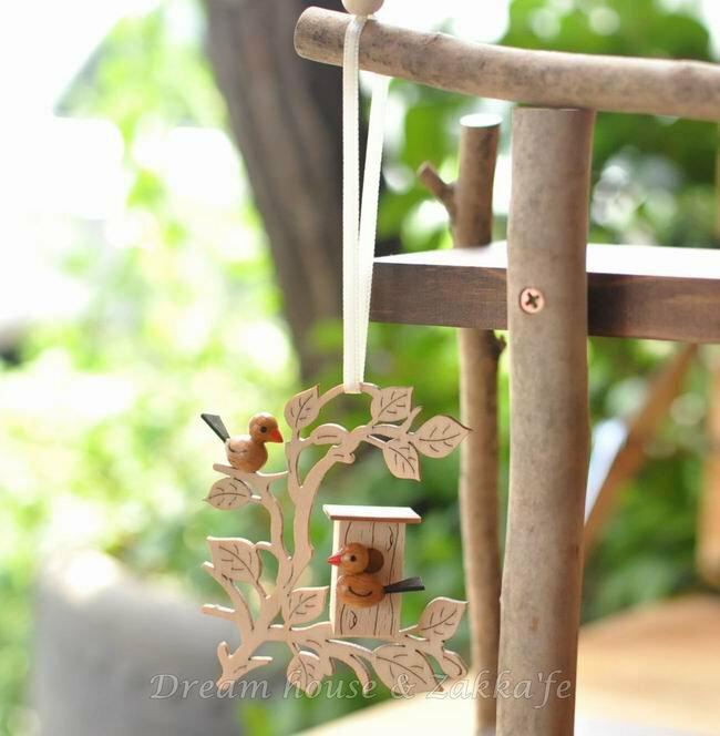 Zakka 鄉村風手工木製 小鳥鳥屋掛飾 ★ 德國 Erzgebirge ★ 質感超好 細緻漂亮 - 限時優惠好康折扣