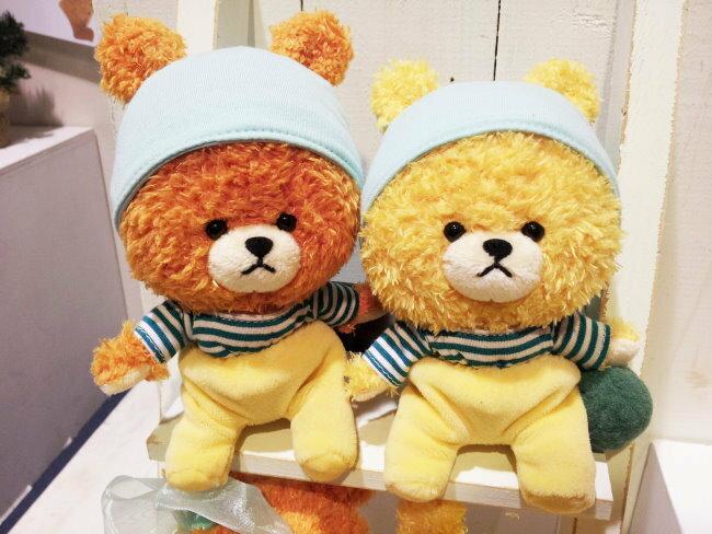 日本正版 雙胞胎小熊 睡衣睡帽款 絨毛娃娃 15cm 《 TINY TWIN BEARS 》《 2款任選 》 ★ 日本原裝進口 ★ - 限時優惠好康折扣