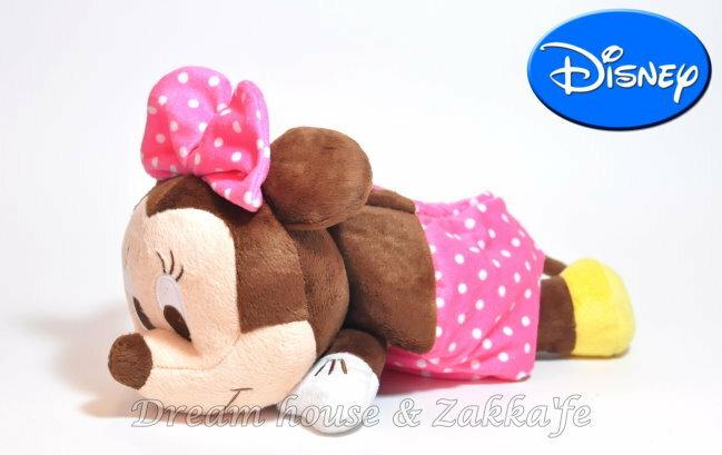 日本正版 Disney 迪士尼 米妮 Minnie 絨毛萬用收納盒 / 置物盒 《 客廳 / 臥室 / 車上 好看又好用 》★ 超可愛 ★ - 限時優惠好康折扣