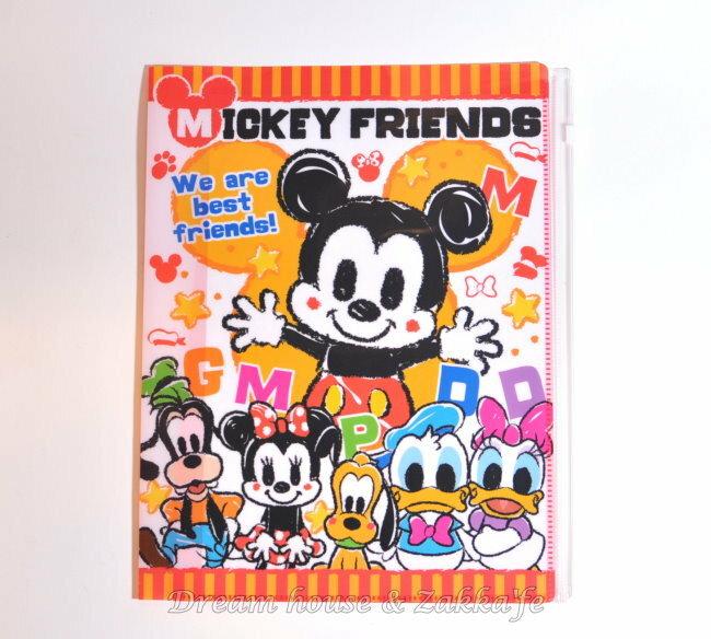 Disney 迪士尼 米奇好朋友 米老鼠 翻頁式 資料夾 檔案夾 文件夾 ~ 含4頁6個L