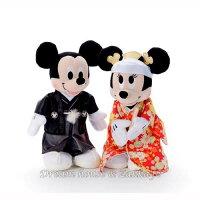 婚禮小物推薦到日本正版 Disney 迪士尼 米奇/米妮/米老鼠 和服款 婚禮玩偶/絨毛娃娃 禮盒《 婚禮小物/結婚禮物 都適合喔 》 ★ Zakka'fe ★