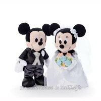 婚禮小物推薦到日本正版 Disney 迪士尼 米奇/米妮/米老鼠 婚紗款 婚禮玩偶/絨毛娃娃 禮盒《 婚禮小物/結婚禮物 都適合喔 》 ★ Zakka'fe ★