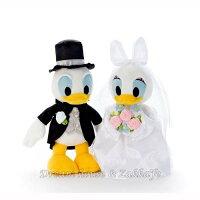 婚禮小物推薦到日本正版 Disney 迪士尼 唐老鴨 婚紗款 婚禮玩偶/絨毛娃娃 禮盒《 婚禮小物/結婚禮物 都適合喔 》 ★ Zakka'fe ★
