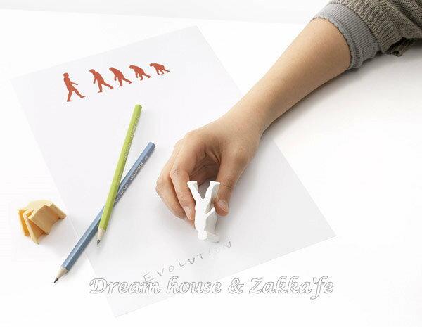 日本 Plus-d 人類進化史 造型橡皮擦 《 2色任選 》★ 日本製 ★ Zakka'fe ★ - 限時優惠好康折扣