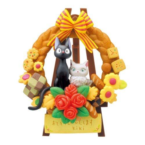日本宮崎駿 魔女宅急便 貓咪 立體拼圖組合玩具/公仔 《 花圈 》★ Zakka\
