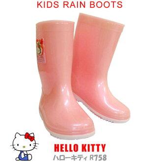日本 sanrio 三麗鷗 Hello Kitty 粉紅色兒童雨鞋 《 日本製 》 ★ Zakka\