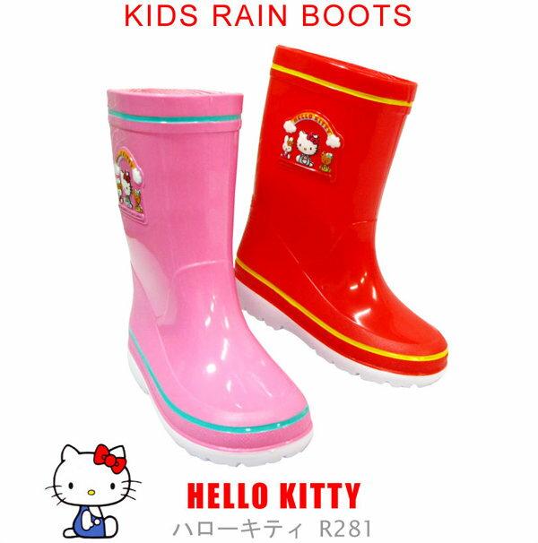 日本 sanrio 三麗鷗 Hello Kitty 桃紅色兒童雨鞋 《 日本製 》 ★ Zakka\