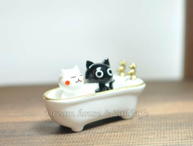 日本硝子 玻璃工藝 貓咪鴛鴦浴 擺飾 《和風小物》★ 日本製 ★ Zakka\