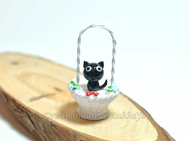 日本硝子 玻璃工藝 貓咪花籃 擺飾 《和風小物》★ 日本製 ★ Zakka'fe ★ - 限時優惠好康折扣