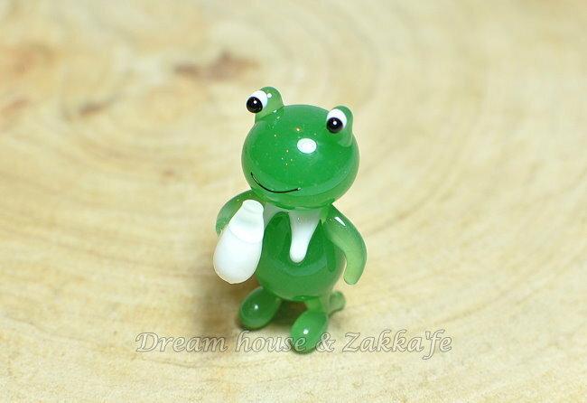 日本硝子 玻璃工藝 青蛙喝牛奶 擺飾 《和風小物》★ 日本製 ★ Zakka'fe ★ - 限時優惠好康折扣