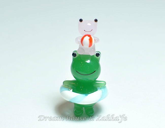 日本硝子 玻璃工藝 青蛙馬戲團 / 疊羅漢 擺飾 《和風小物》★ 日本製 ★ Zakka'fe ★ - 限時優惠好康折扣