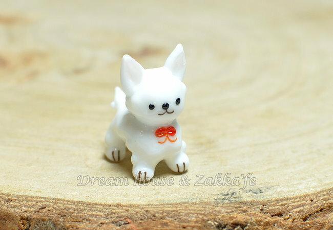 日本硝子 玻璃工藝 白色小狗 擺飾 《和風小物》★ 日本製 ★ Zakka'fe ★ - 限時優惠好康折扣