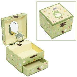 日本宮崎駿 Totoro 龍貓 旋轉音樂鈴/音樂盒/珠寶盒 《 日本原裝進口 》Zakka\