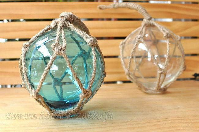 Zakka 鄉村海洋風 仿舊 玻璃浮球造型吊飾 《 2色任選 》★ 透亮玻璃質感 ★ Zakka'fe