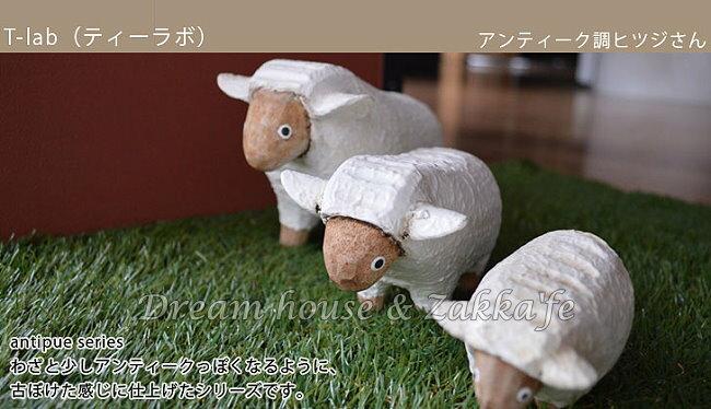 日本 T-Lab 手工原木製 仿舊系列 綿羊 L 《 Zakka鄉村風 》★ Zakka'fe ★ - 限時優惠好康折扣