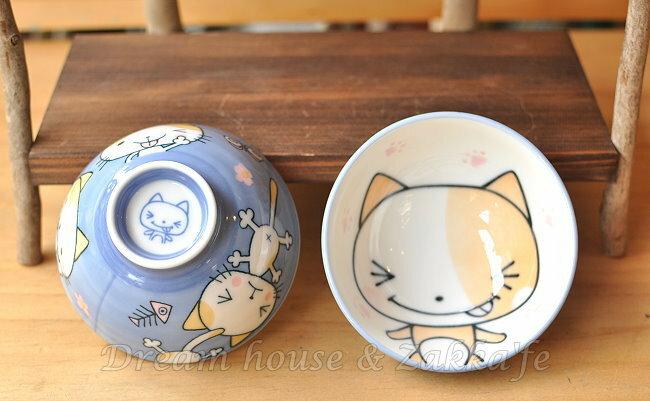 日本製 陶瓷茶碗 / 兒童碗 / 飯碗 / 碗 藍色 貓咪 《 日本進口 》★ Zakka'fe ★ - 限時優惠好康折扣