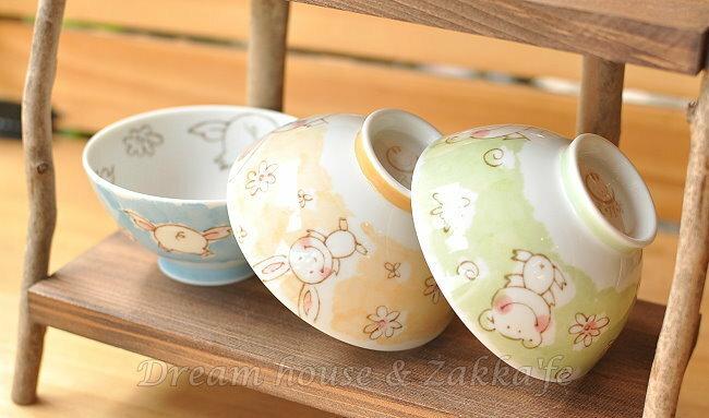 日本製 え・が・お 不沾黏 陶瓷茶碗 / 兒童碗 / 飯碗 / 碗 《 小豬 / 青蛙 / 兔子 3款任選 》 ★ 日本進口 ★ - 限時優惠好康折扣