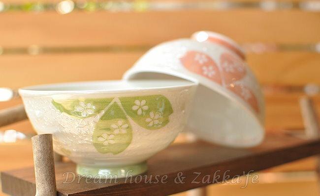 日本製 和心 陶瓷茶碗 / 兒童碗 / 飯碗 / 碗 櫻花 《 綠 / 粉 2色任選 》《 日本進口 》★ Zakka'fe ★ - 限時優惠好康折扣