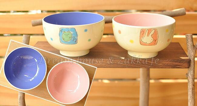日本製 漆器茶碗/兒童碗/飯碗/碗 《 紫 青蛙/粉 兔子 2色任選 》 《 日本進口 》★ Zakka'fe ★