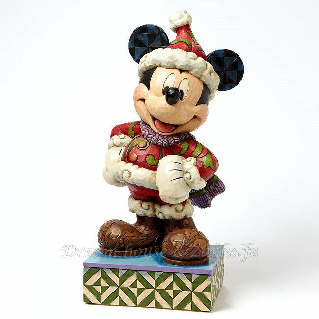 美國ENESCO精品 Jim Shore愛木小灣 超大 聖誕老公公米奇★超可愛★ Disney 迪士尼 ★ Zakka'fe