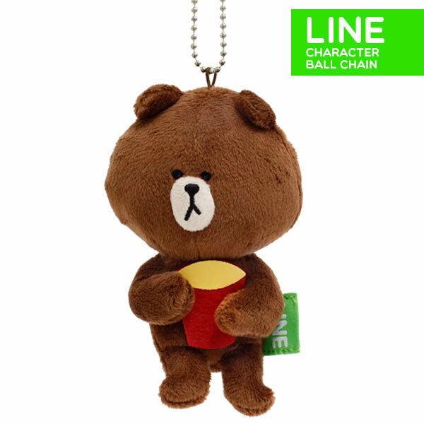 日本正版 LINE娃娃吊飾 熊大爆米花筒 《 掛包包/掛鑰匙 隨處掛都好看 》★ 超可愛 ★