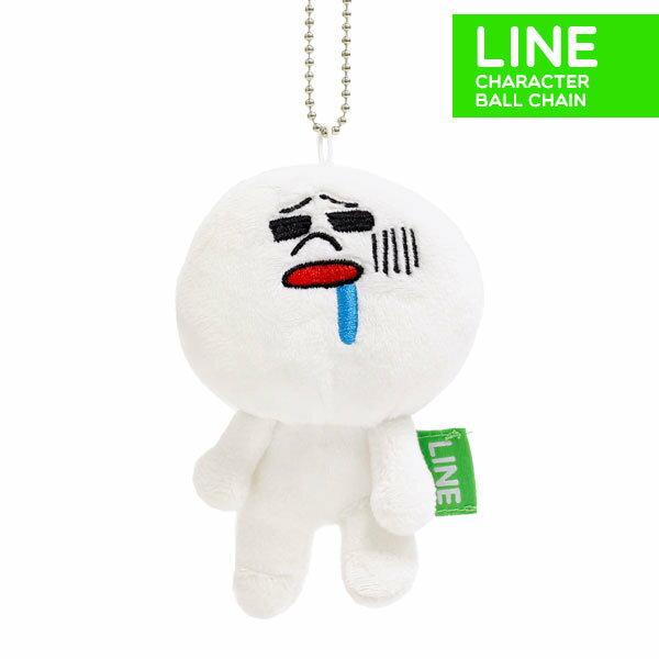日本正版 LINE娃娃吊飾 饅頭人好餓 《 掛包包 / 掛鑰匙 隨處掛都好看 》★ 超可愛 ★ - 限時優惠好康折扣