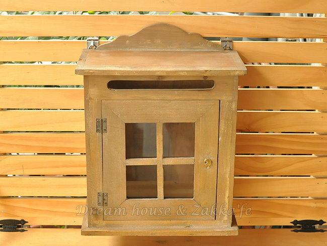 Zakka 鄉村風 仿舊窗型木製信箱 《 附2支鑰匙 》★可愛漂亮★ Zakka'fe