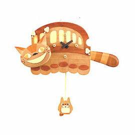 超可愛日本木製龍貓公車擺鐘/掛鐘《日本原裝》★質感很棒★