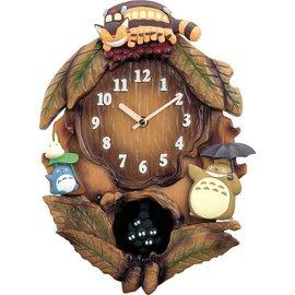 超可愛日本木製 Totoro 龍貓 光線感應音樂擺鐘/掛鐘《日本原裝》★ 附影片檔 ★