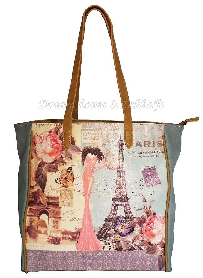 時尚巴黎鐵塔 肩背包 / 手提包 / 托特包 《 很漂亮喔 》★ Zakka'fe ★ - 限時優惠好康折扣