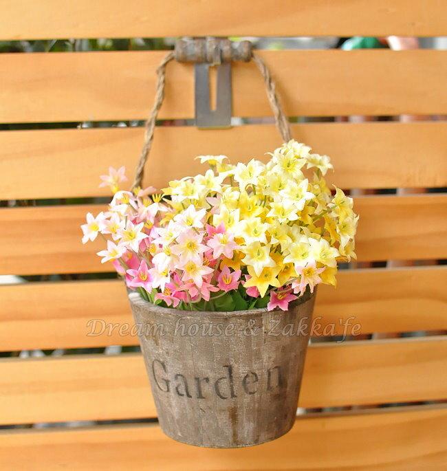 鄉村風Zakka 復古仿舊木製 花籃  提筒  收納盒  置物盒 ~ 深木色 ~ ~復古漂