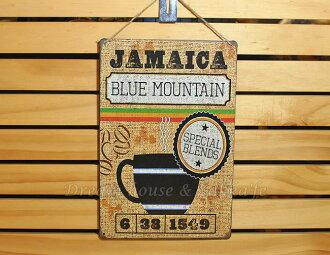 超漂亮復古仿舊鐵板壁掛/鐵板畫 小 《 JAMAICA咖啡 》★美式鄉村風★ Zakka\