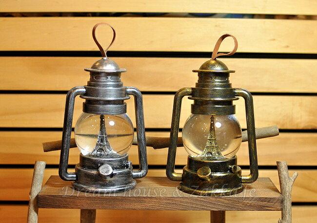 復古仿油燈造型 LED水球擺飾 大《 2色任選 》★ 燈光會變色 質感很好喔 ★  Zakka'fe 2